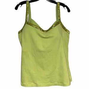 Soft Surroundings Tank Sequin Trimmed Tank